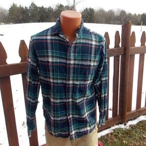 J. Crew Mens Tailored Fit Flannel Shirt Size M